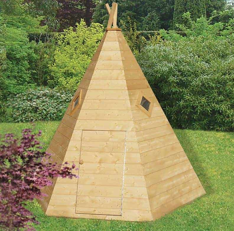 7x6 Shire Wigwam Kids Wooden Playhouse
