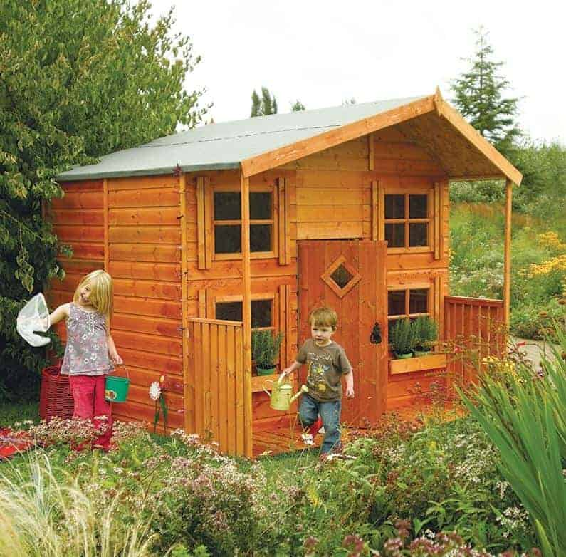 8x7 Rowlinson Playaway Lodge Childrens/ Kids Garden Playhouse
