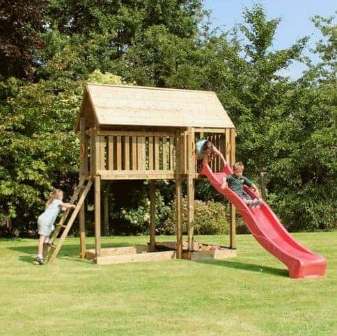13x6 Windsor Rose Tower Childrens/ Kids Wooden Garden Playhouse and Slide