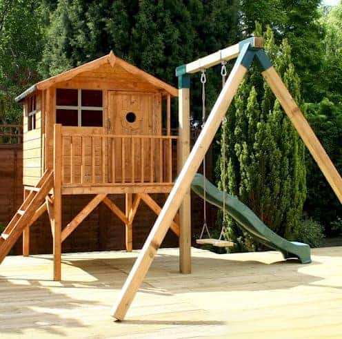 13'3x12 Windsor Tulip Tower Kids Playhouse/Activity Centre With Swing