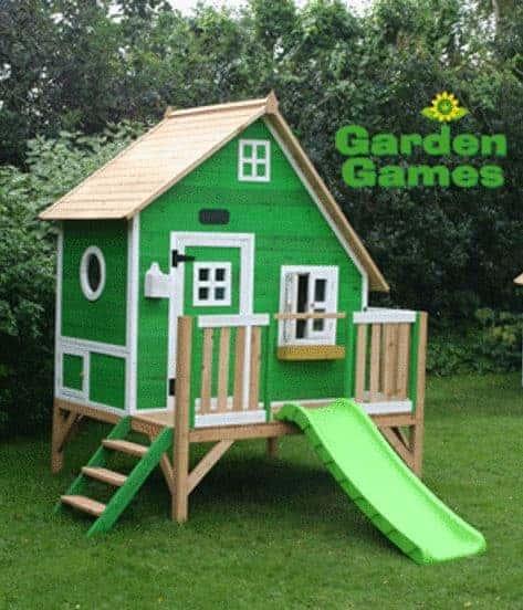 Adley 5' x 5' Jellytot Cottage Tower Playhouse & Slide