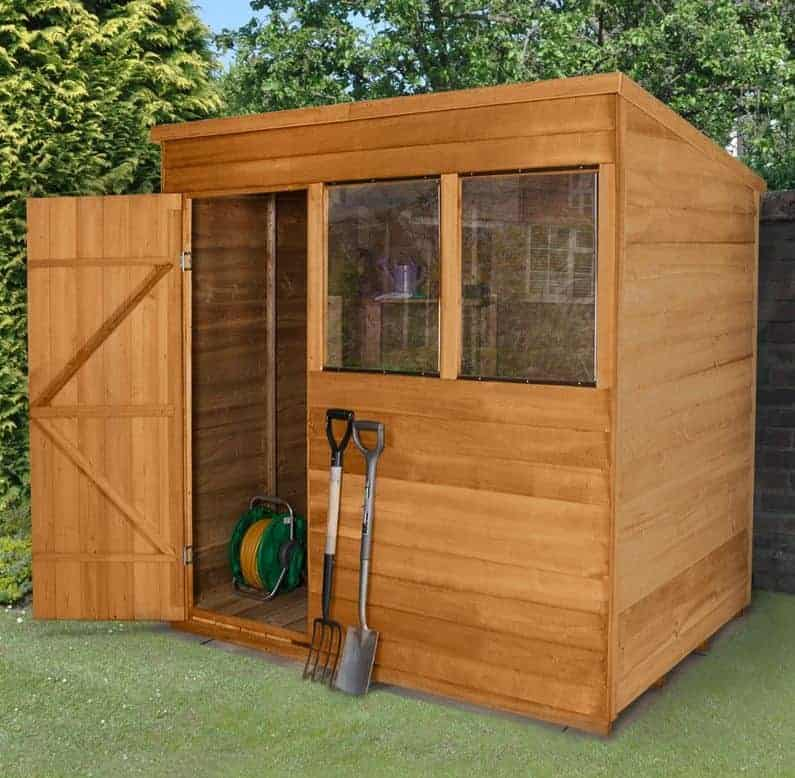 7' x 5' Forest Overlap Pent Dip Treated Wooden Shed (2.1m x 1.53m)