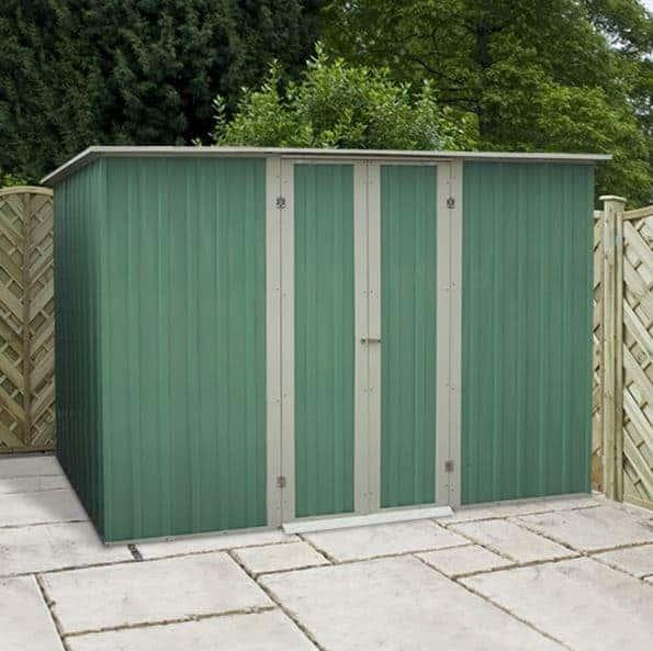 YardMaster 8 x 4 Pent Metal Garden Storage Shed