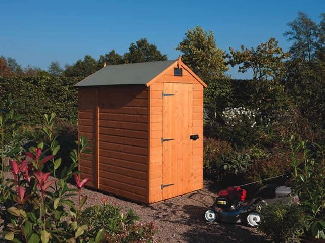 6' x 4' Forest Overlap Apex Dip Treated Wooden Windowless Shed (1.82m x 1.32m)