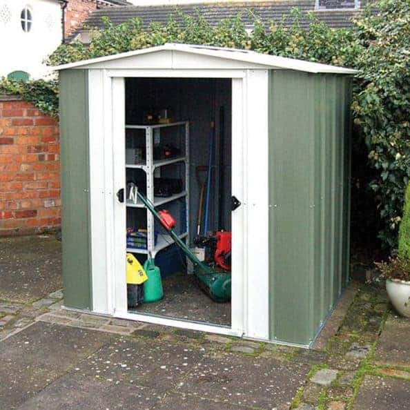 Rowlinson 6 x 5 Double Door Apex Cheap Storage Sheds