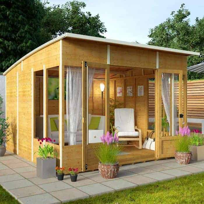 Contemporary summer houses who has the best contemporary for Garden designs with summer house