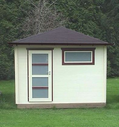 Kenn 19mm Pyramid Roof Garden Building Contemporary Summer Houses