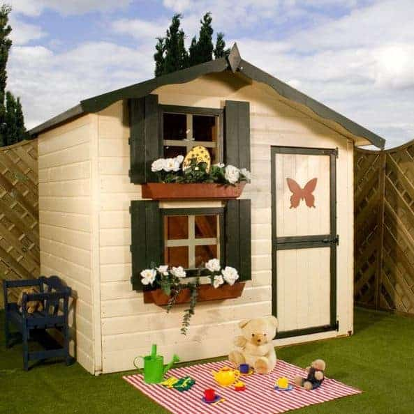 7 x 5 Waltons Honeypot Snowdrop Cottage Playhouse With Loft