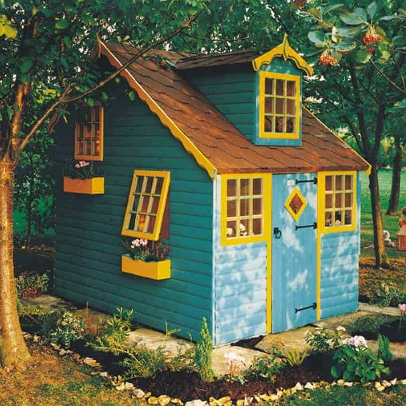 Adley 7' x 7' Jellytot Mansion Playhouse