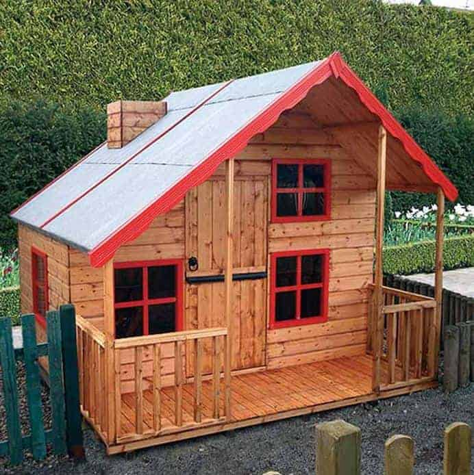 8x5'6 Shire Loft 2 Storey Kids Wooden Playhouse
