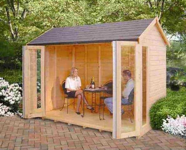 10'3x6'5 Shire Blenheim Wooden Summerhouse With Bi-Fold Doors
