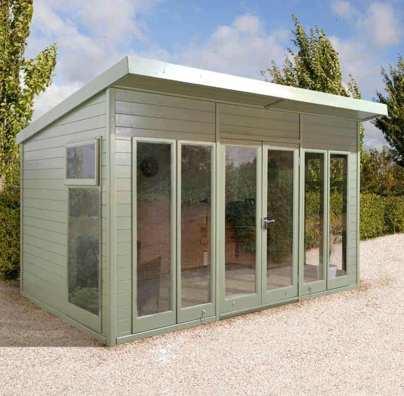 12x10 Ultimate Pent Garden Room - Fully Glazed