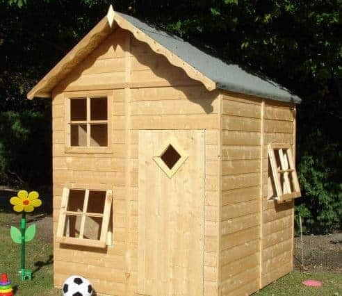 5'3x5'6 Shire Croft 2 Storey Kids Wooden Playhouse