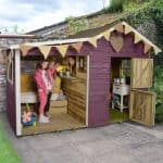 Garden Playhouse - 8 x 4 Play-Plus Dixie Duo Pressure Treated Garden Playhouse