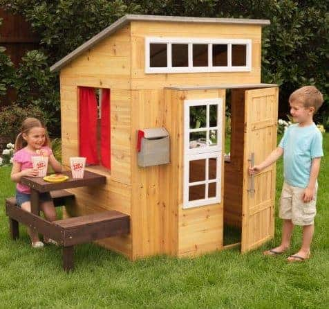 KidKraft 182 Wooden Outdoor Garden Playhouse Including Play Kitchen and Accessories for Children Kids