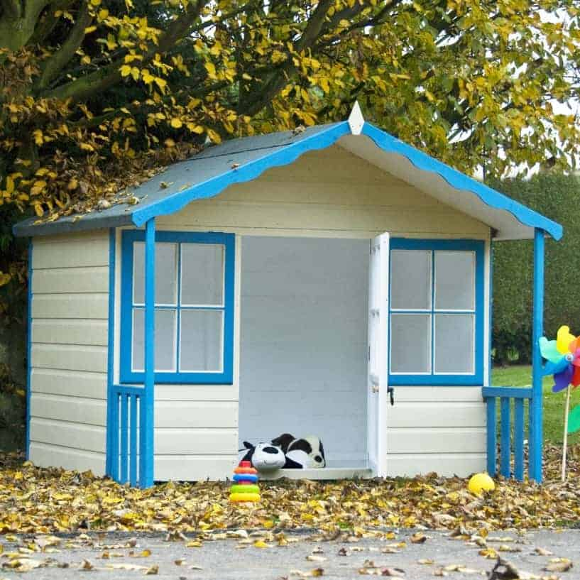 6' x 5'6 Shire Cubby Childrens/ Kids Wooden Garden Playhouse