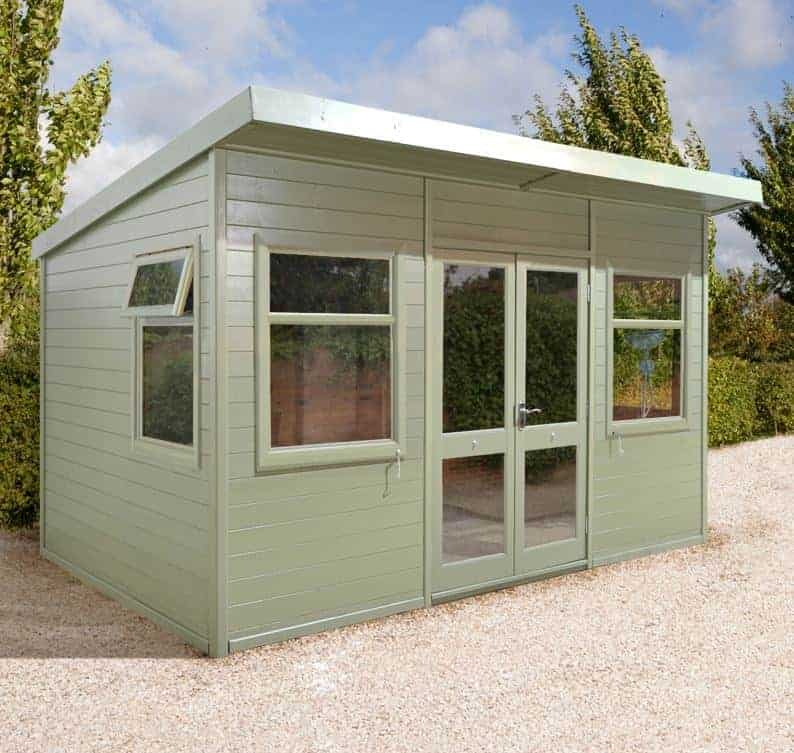 10x8 Ultimate Pent Garden Room - Half Glazed