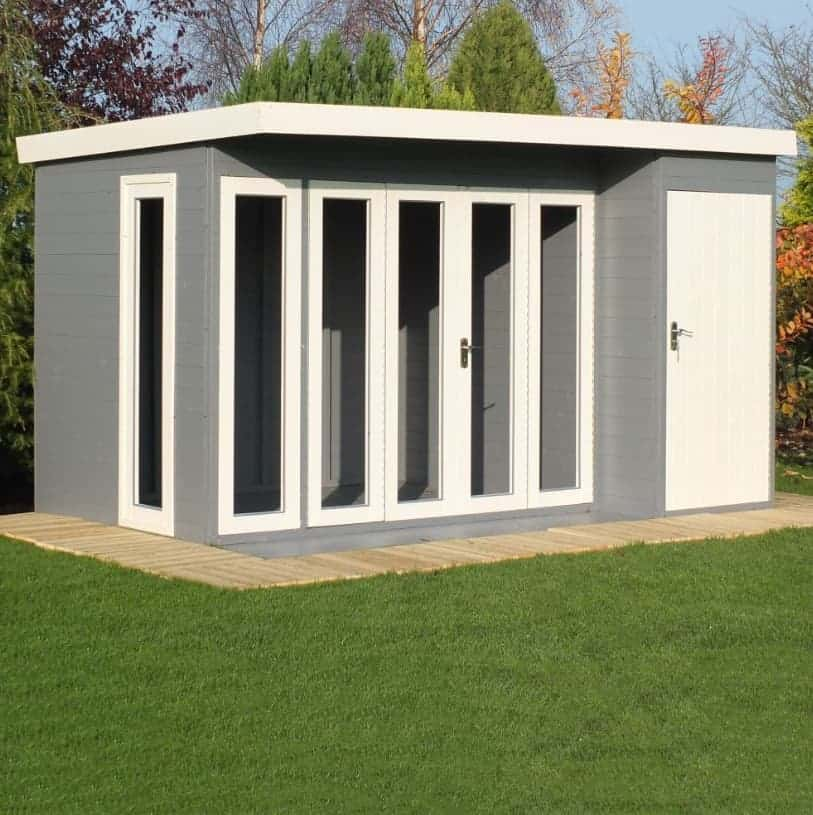 12'x8' Shire Aster Combination Wooden Contemporary Summerhouse