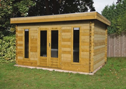 Palmako Bret 4.5m x 3.3m Log Cabin Garden Room (44mm)