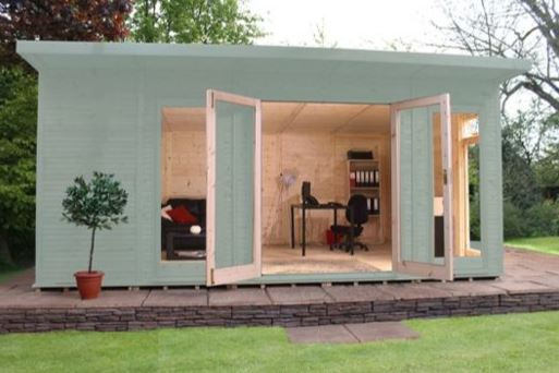 Mercia Wooden Insulated Seagrass Painted Garden Room