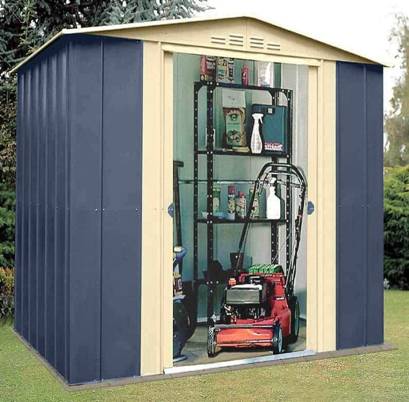 6 x 5 Shed Baron Grandale Mountain Blue Metal Outside Storage Sheds : patio storage shed - thejasonspencertrust.org