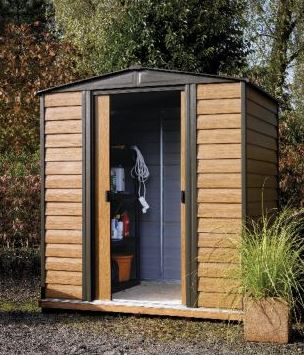 Rowlinson Woodvale 6' x 5' Apex Metal Shed With Floor
