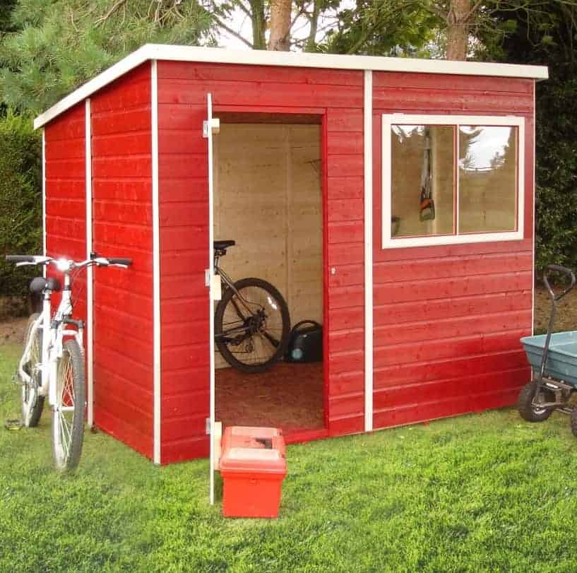 6' x 8' Forest Overlap Pent Dip Treated Wooden Shed (1.88m x 2.39m)