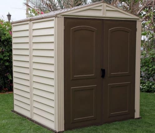 Storage Sheds - Duramax 6 x 6 Vinyl Woodside Outside Storage Sheds