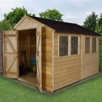 Quality Sheds - 10 x 8 Shed-Plus Pressure Treated Double Door Apex Quality Sheds