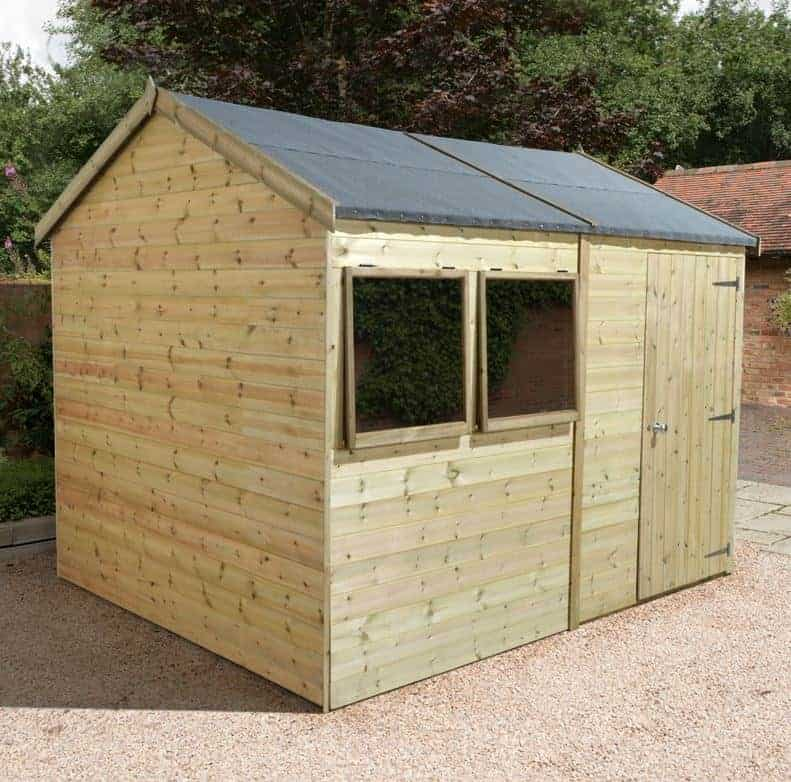 10' x 8' Shed Republic Ultimate Heavy Duty Reverse Apex Workshop - Single Door (3.02m x 2.44m)