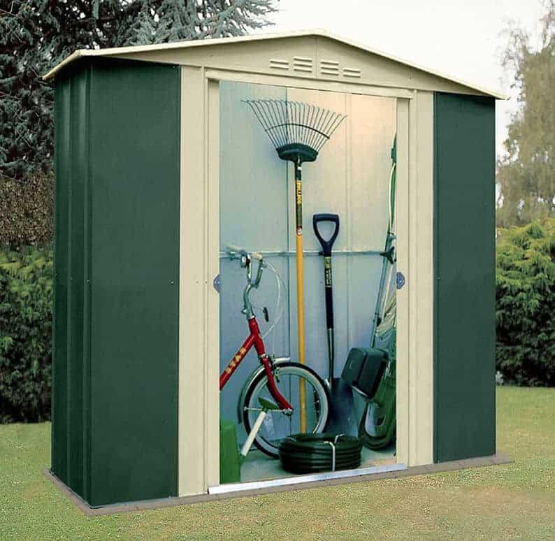 6 x 5 shed baron grandale six metal small storage sheds - Garden Sheds 6x4