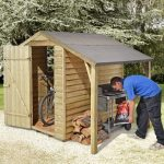 Small Storage Sheds - 6 x 4 Shed-Plus Pressure Treated Small Storage Sheds With Log Store