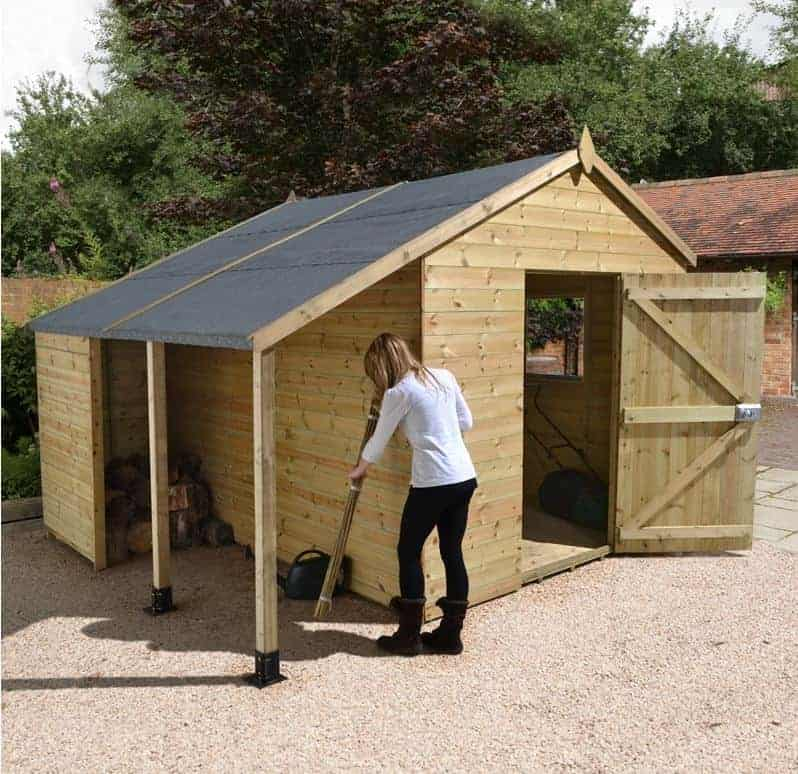 10' x 6' Shed Republic Ultimate Heavy Duty Shed with Logstore - Single Door (3.02m x 1.82m)