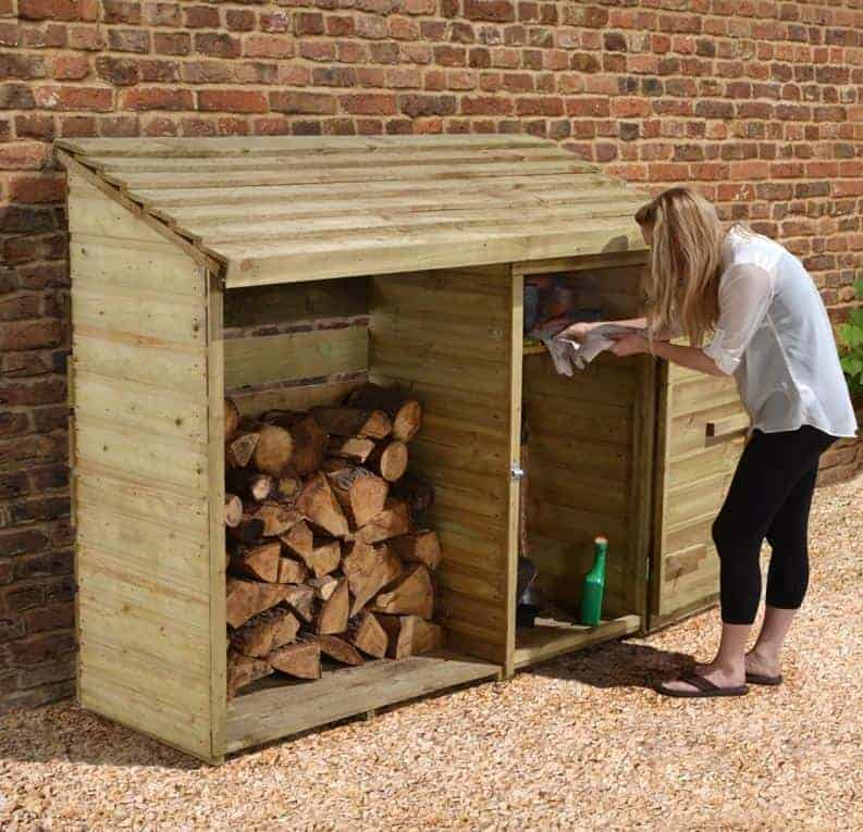 6' x 2' Forest Large Premium Log and Tool Store (1.76m x 0.69m)