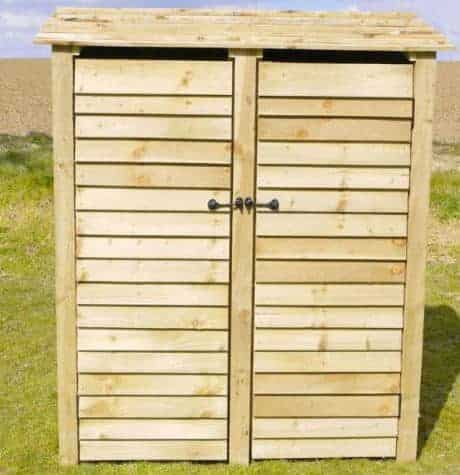 Arbor Garden Solutions Wooden Log Store With Doors 6Ft