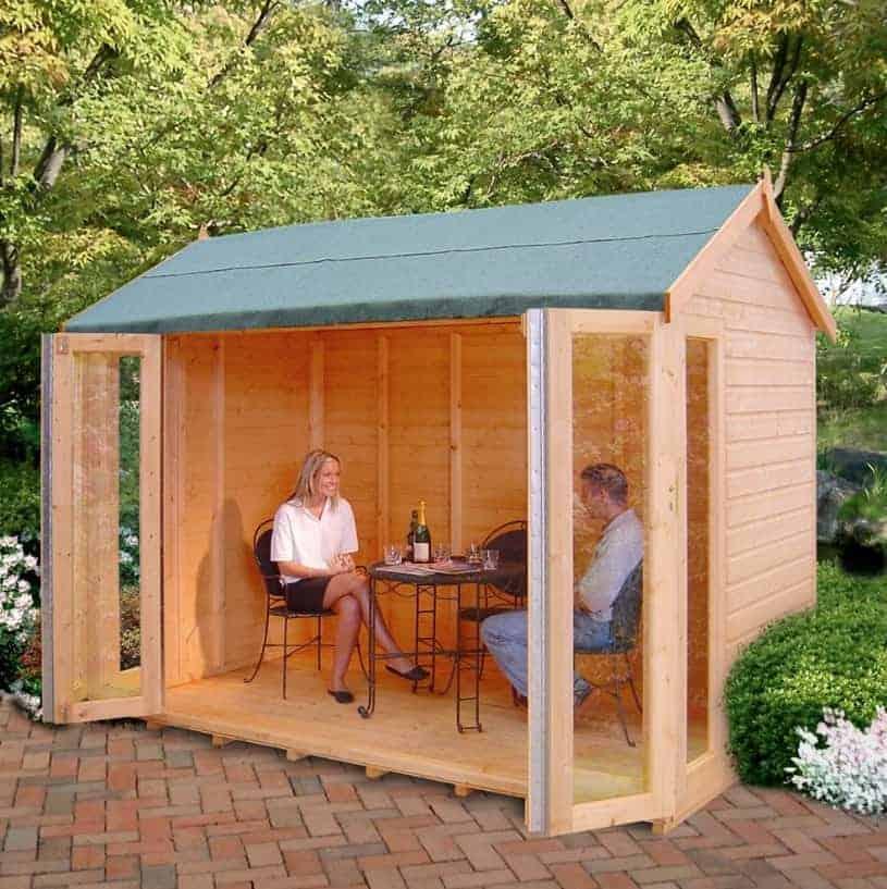 10'3 x 8'4 Shire Blenheim Wooden Summerhouse