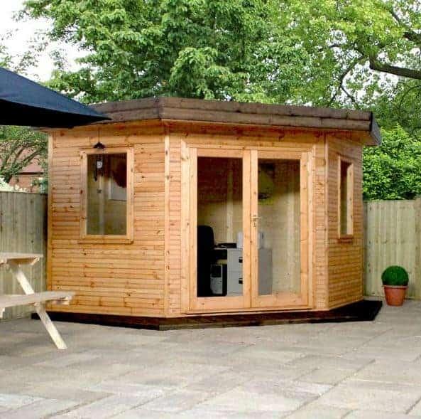 The Holly 4m x 4m Corner Log Cabin