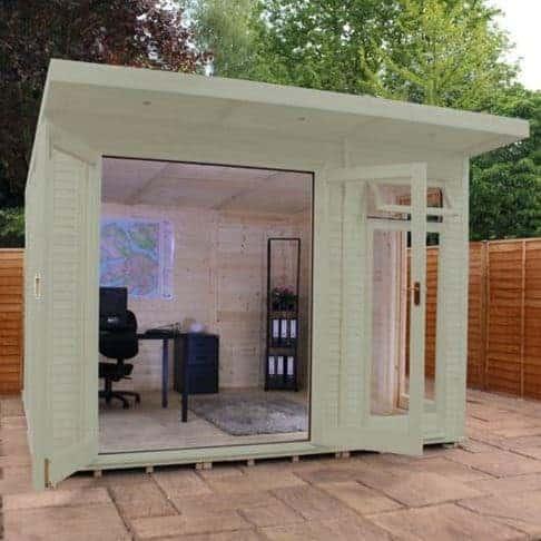 Mercia Wooden Insulated Willow Painted Garden Studio