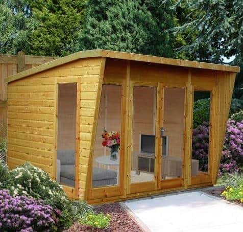 10x10 Shire Highclere Contemporary Wooden Summerhouse