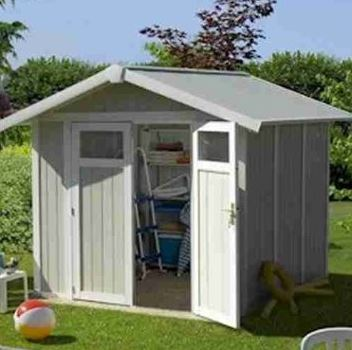 8' x 7' Suncast New Tremont Four Apex Roof Plastic Garden Storage Shed (2.43m x 2.17m)