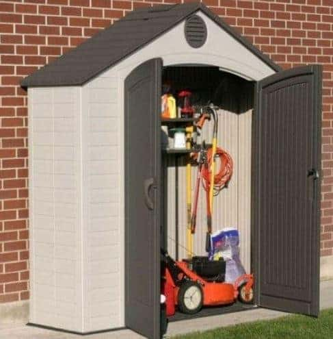 Lifetime 8 x 2.5ft Heavy Duty Fully Accessorised Plastic Shed