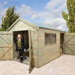 Wooden Sheds - 10 x 8 Shed-Plus Heavy Duty Combination Double Door Wooden Sheds