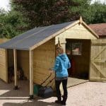 Wooden-Sheds-12-x-8-Shed-Plus-Champion-Heavy-Duty-Wooden-Sheds-With-Logstore