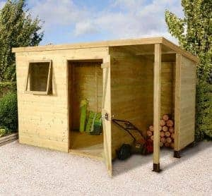 7' x 5' Shed-Plus Champion Heavy Duty Pent Shed - Single Door on Right (2.21m x 1.6m)