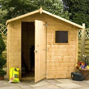 Adley 7' x 5' Pressure Treated Shiplap Offset Apex Shed