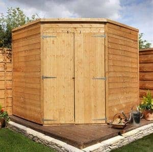 the billyoh 5000 windowless corner shed