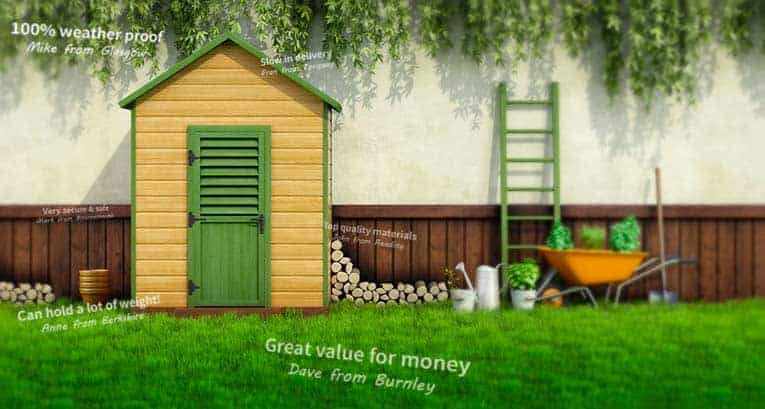 Sheds for sale largest selection of garden sheds in uk for Garden sheds built on site