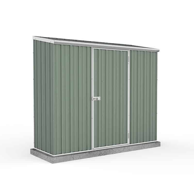 Absco 5' x 2' 7 Pale Eucalyptus Easy Build Pent Metal Shed