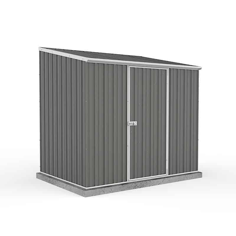 Absco 7ft 5 x 5ft Grey Easy Build Pent Metal Shed