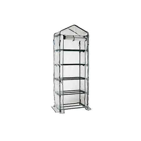 Worth Garden Portable 5-Tier Shelves Mini Greenhouse